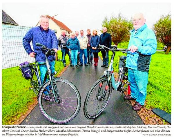Bereit für neue Bürgerradwege