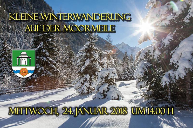 Kleine Winterwanderung am 24. Januar 2018