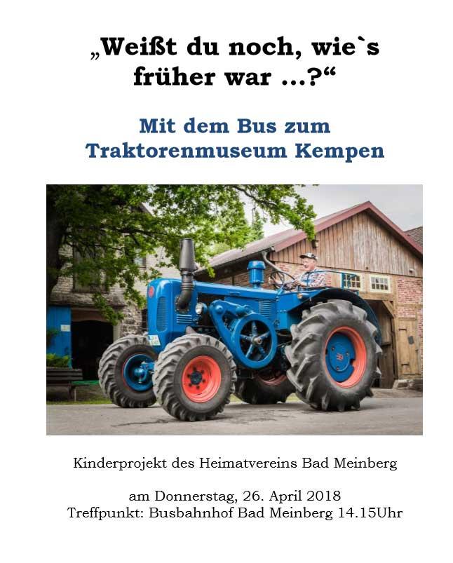 Mit dem Bus zum Traktorenmuseum Kempen am 26. April